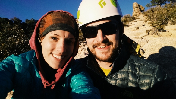 Together, post-climb, in the magical light.